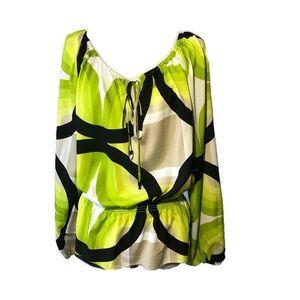 MICHAEL Michael Kors L geometric print blouse